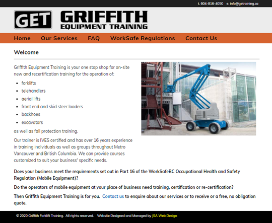 Griffith Equipment Training